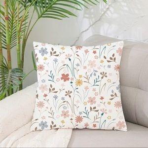 Floral decorative throw pillow